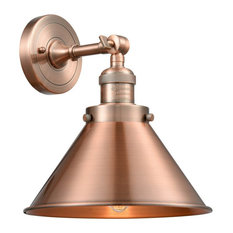 1-Light Sconce Antique Copper With Vintage Bulb
