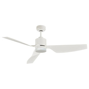 Lucci Airfusion Climate II DC Ceiling Fan With Remote, White