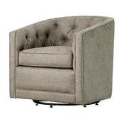Walsh Fabric Swivel Chair, Denim Dove Gray