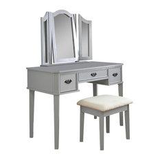 Bella Dressing Table Set, Grey