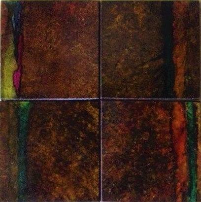 "Travertine Marble Tiles- ""Fall Collection -Colorized tiles add a splash! to Ki"