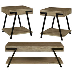Industrial Coffee Table Sets by Progressive Furniture