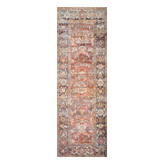 """Spice, Marine Printed Polyester Layla LAY-02 Area Rug by Loloi II, 2'-6""""x7'-6"""""""