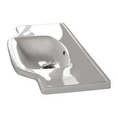 """Nameeks 081200-U CeraStyle 31-3/5"""" Ceramic Wall Mounted Bathroom Sink, White"""