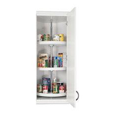 "Rev-A-Shelf - 20"" Almond Polymer Three-Shelf Full Circle Lazy Susan Set - Kitchen Cabinetry"