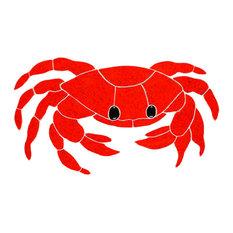 "Crab Red Mosaic, 6""x11"""