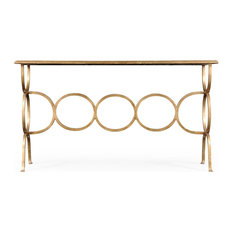 JONATHAN CHARLES LUXE Console Table Contemporary Rectangular Circles
