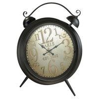 "Sterling Industries Picpus - 49"" Wall Clock, Dark Rust/Pewter/Burlap Finish"