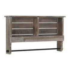 Spruce Wood Wall Shelf, With Rail