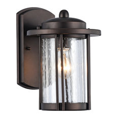 """DOLAN, Transitional 1 Light Rubbed Bronze Outdoor Wall Sconce, 11"""" Height"""