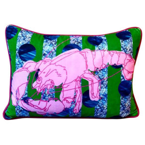 Pretty Pink Lobster Cushion