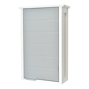 Wall Mounted Bathroom Cabinet 1 Door-Modern D- White and Gray