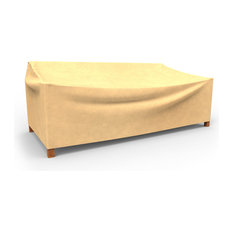 "Budge All-Seasons Extra Extra Large Outdoor Sofa Cover, 35""x100""x41"", Tan"