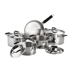 Premier Stainless Steel 9-Piece Cookware Set, Black