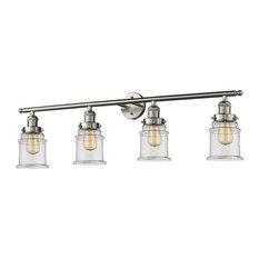 """Innovations 4-LT Canton 42"""" Adjustable Bathroom Fixture - Brushed Satin Nickel"""