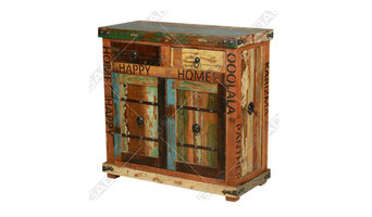 ANTIQUE CABINET IN RECLAIMED WOOD - RECLAIMED WOOD FURNITURE