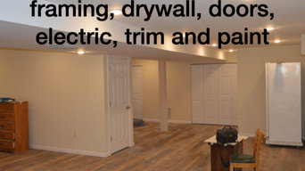 Basement refinish with an added bathroom in the basement