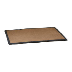 Doormat with Charcoal Border, Large - Coir