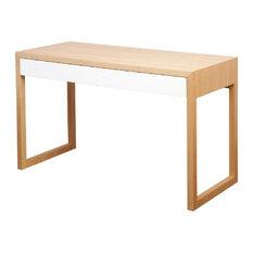 - Colour Box Desk - Tasmanian Oak & White - Kids Desks and Desk Sets