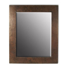 Sedona Rectangular Hammered Copper Mirror (Large 30 in. x 36 in.)