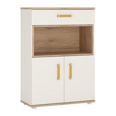 2-Door 1-Drawer Cupboard With Open Shelf