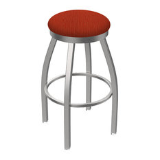 802 Misha 30-inch Swivel Bar Stool With Stainless And Graph Poppy Seat