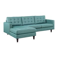 Modway - Empress Left-Facing Upholstered Sectional Sofa Laguna - Sectional Sofas  sc 1 st  Houzz : laguna sectional sofa - Sectionals, Sofas & Couches