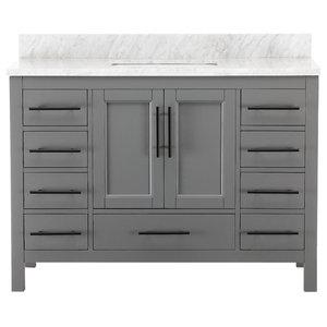 """Kendall Gray Bathroom Vanity, 48"""""""