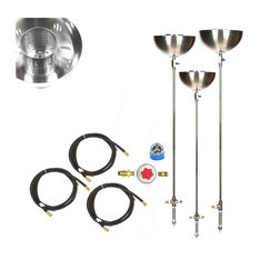 """3 Pack Portable Propane 72""""Stainless Steel Tiki Type Torches"""