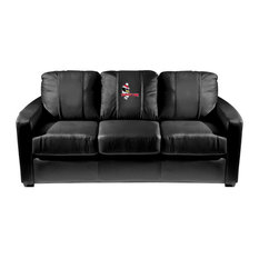 Youngstown State Penguins Collegiate Silver Sofa With Pete Logo