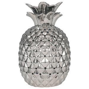 Pina Pineapple Table Lamp, Silver Finish