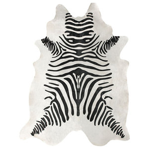 Zebra Africa Print On White 84 Quot X72 Quot Contemporary