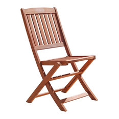 Vifah   Outdoor Wood Folding Bistro Chairs, Set Of 2   Outdoor Folding  Chairs