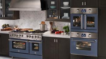 "BlueStar RNB 48"" Platinum Range with BlueStar Electric Wall Oven"