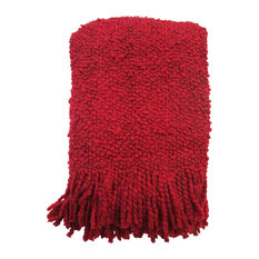 Kennebunk Home - Kennebunk Home  Camelot Red Acrylic Throw - Throws
