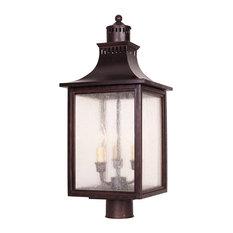Monte Grande Outdoor Post Lantern, English Bronze