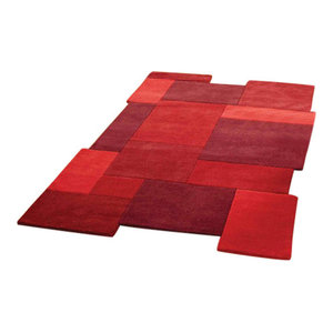Collage Rug, Red, 90x150 cm