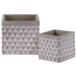 Farmhouse Outdoor Pots And Planters by Urban Trends Collection