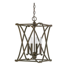 Capital Lighting 9691BB Alexander 4-Light Foyer Fixture, Burnished Bronze
