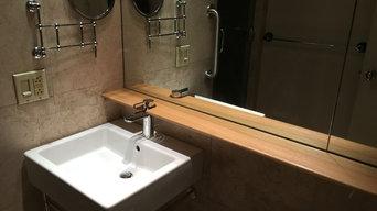 Custom Bathroom Shelf
