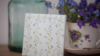 Pale Blue Forget-Me-Not Flower Wall Tile