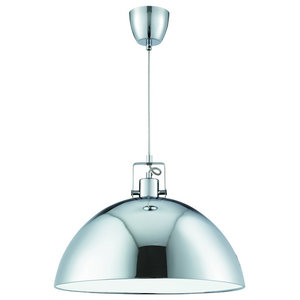Domas Modern Single Polished Chrome Pendant
