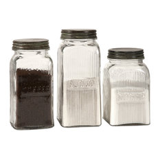 Imax Worldwide Home - 3-Piece Dyer Glass Canisters - Kitchen Canisters And  Jars