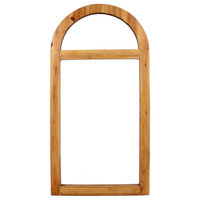 "1.25"" X 4.75"" X 23.75"" Brown Rustic Dressing Mirror With Minimalist Window Frame"