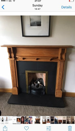 Fireplace Painted In Chalk Paint Houzz Uk, Black Paint For Metal Fireplace Surround