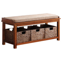 Tropical Accent And Storage Benches by GwG Outlet