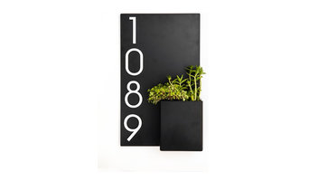 """Curb Appeal Address Planter, 12""""Wx20""""H"""