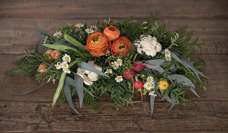 Hazlo tú mismo: Centro de mesa con hortalizas, legumbres y flores
