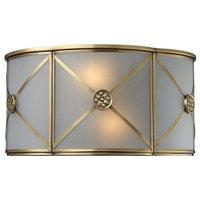 Preston 2-Light Sconce, Brushed Brass