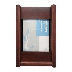 Wooden Mallet 1 Pocket Glove and Tissue Box Holder in Mahogany